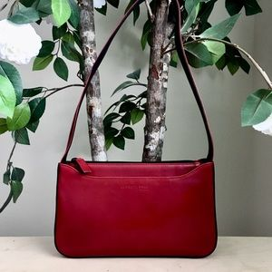 Kenneth Cole Red Leather Small Shoulder Bag